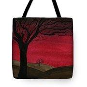 Red Sky - Dark Hills Tote Bag