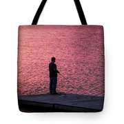 Red Sky Fishing Tote Bag