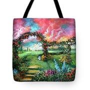 Red Sky Garden Tote Bag