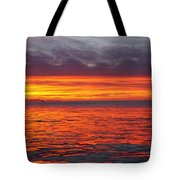 Red Sky In Morning, Sailor's Warning Tote Bag