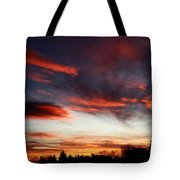 Red Sky Tote Bag by Julian Perry
