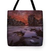 Red Sky, King Rock  Tote Bag