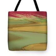Red Sky Landscape Tote Bag