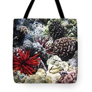 Red Slate Pencil Urchin Tote Bag