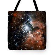 Red Smoke Star Cluster Tote Bag