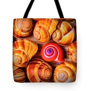 Red Snail Shell Tote Bag