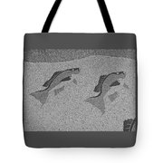 Red Snapper Inlay In Grayscale Tote Bag