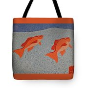 Red Snapper Inlay On Alabama Welcome Center Floor Tote Bag