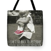 Red Sneakers Quote Tote Bag