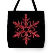 Red Snowflake Ornament Tote Bag