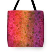 Red Sparkle Lace Tote Bag