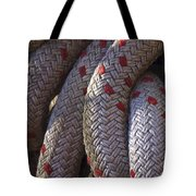 Red Speckled Rope Tote Bag