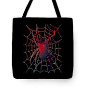 Red Spider On Black Tote Bag