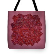 Red Spiral Tote Bag