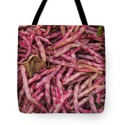 Red Spotted Pearly Beans Tote Bag