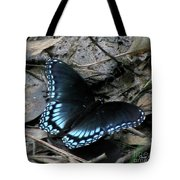 Red Spotted Purple Swallowtail Butterfly Tote Bag