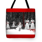Red Stains - Self Portrait Tote Bag