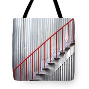 Red Staircase Tote Bag