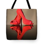 Red Stiletto Shoes Tote Bag