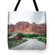 Red Stone Mountain  Tote Bag