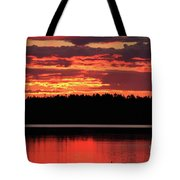 Red Summer Eve Tote Bag