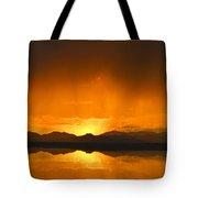 Red Sun Down Tote Bag
