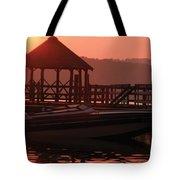 Red Sun Rising Tote Bag