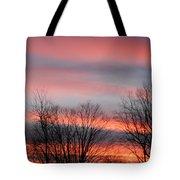 Red Sun Set Tote Bag
