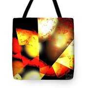 Red Sun Shell Tote Bag
