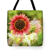 Red Sunflower, Provence, France Tote Bag