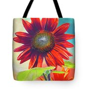 Red Sunflowers At Sundown Tote Bag