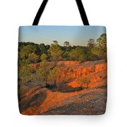 Red Sunset Cliffs Tote Bag