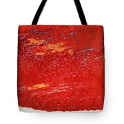 Red Surf On The Beach Tote Bag