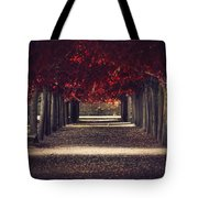 Red Surreal Path  Tote Bag