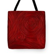 Red Swirl Tote Bag