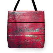 Red Table Tote Bag