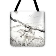 Red-tailed Hawk Of Psalm 104 Tote Bag