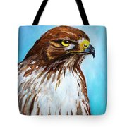 Red Tailed Hawk Portrait Tote Bag