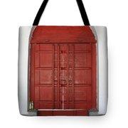 Red Temple Door Tote Bag