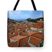 Red Tiled Roofs Of Dubrovnik Tote Bag