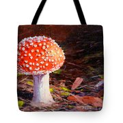 Red Toadstool Tote Bag