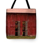 Red Tobacco Barn Tote Bag