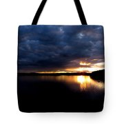 Red Toned Clouds Tote Bag