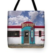 Red Top Diner On Route 66 Tote Bag