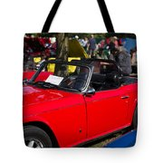 Red Tr6 Tote Bag