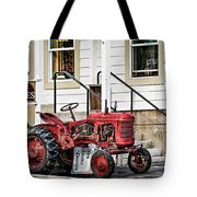 Red Tracktor Tote Bag