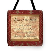 Red Traditional Fruit Of The Spirit Tote Bag by Debbie DeWitt