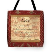 Red Traditional Love Tote Bag