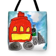 Red Train Tote Bag