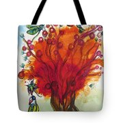 Red Tree And Friends Tote Bag
